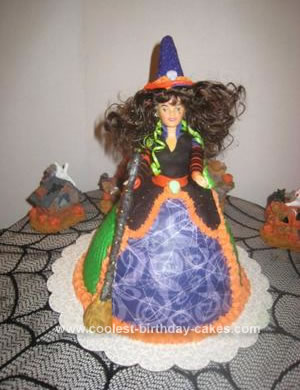 Homemade Witch Doll Cake