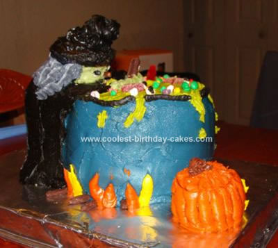 Homemade Witches Brew Cake