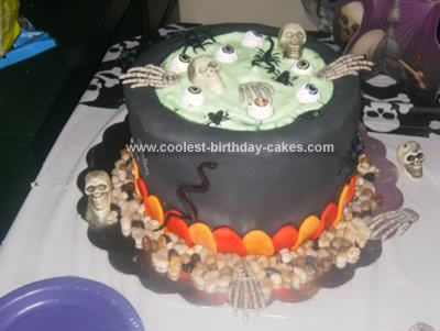 Homemade Witches Pot Cake