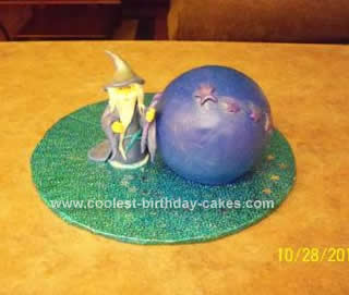 Homemade Wizard and Crystal Ball Cake Idea