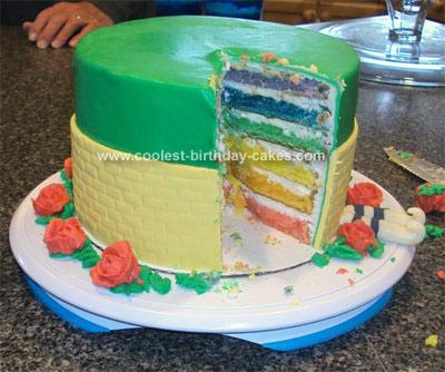 Homemade Wizard of OZ Birthday Cake