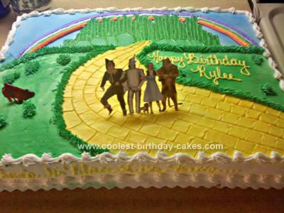 Homemade Wizard of Oz Cake