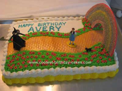Homemade Wizard of Oz Cake Design