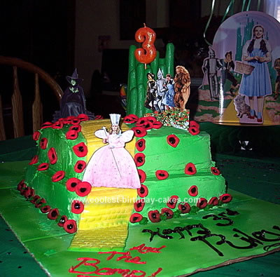 Homemade Wizard of Oz Rainbow Cake