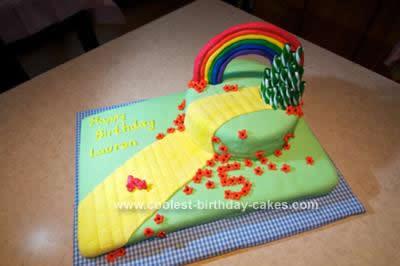 Homemade Wizard of Oz/Yellow Brick Road Cake