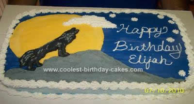 Homemade Wolf Birthday Cake