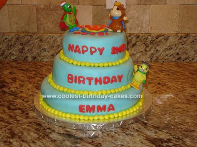 Homemade Wonder Pets Birthday Cake