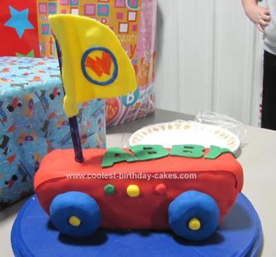 Homemade Wonder Pets Fly Boat Birthday Cake