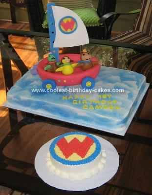Homemade Wonder Pets Flyboat Birthday Cake