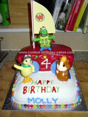 Homemade Wonder Pets Flyboat Birthday Cake