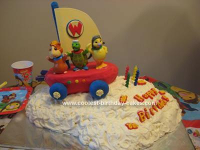 Homemade Wonder Pets Flyboat Cake