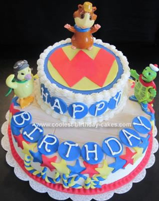 Homemade Wonder Pets Two Tier Cake