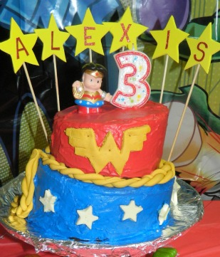 Swell Cool Homemade Wonder Woman Birthday Cake Personalised Birthday Cards Bromeletsinfo