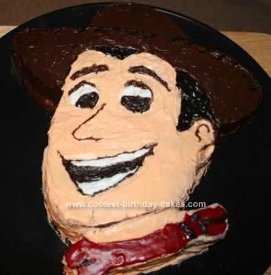 Homemade Woody Birthday Cake