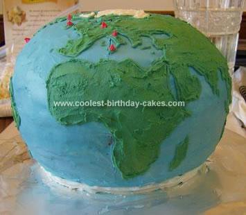 Homemade World Globe Cake