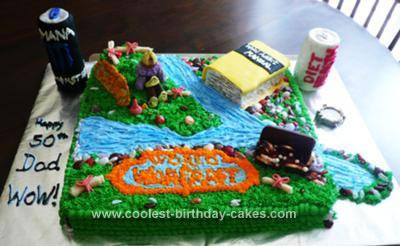 Coolest World Of Warcraft Theme Homemade Birthday Cake