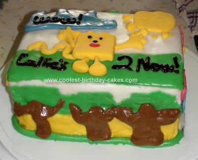 Homemade Wow Wow Wubbzy Cake