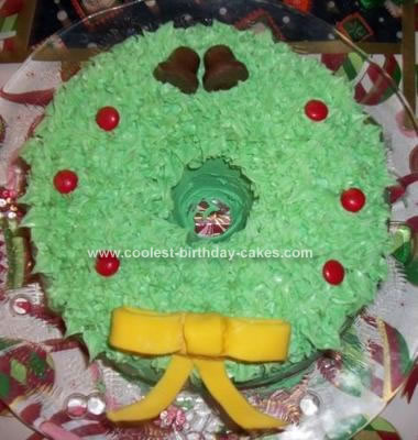Homemade Wreath Cake