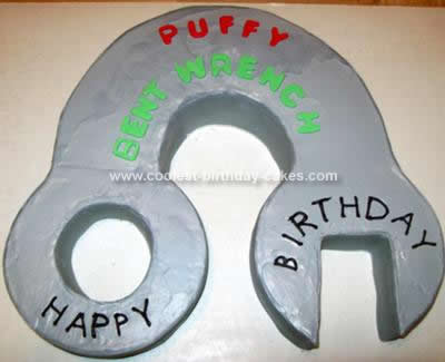Homemade Wrench Birthday Cake Idea