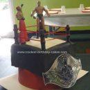 Homemade Wrestling Birthday Cake