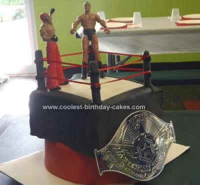 Homemade Wrestling Birthday Cake