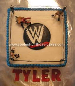 Homemade Wrestling Cake