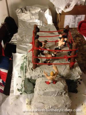 Homemade Wrestling Ring Cake