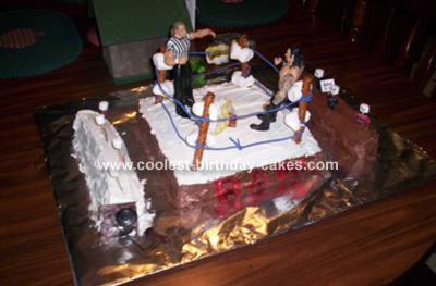 WWE Wrestling Ring Cake