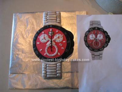 Homemade Wrist Watch Cake