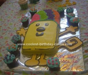 Homemade Wubbzy Birthday Cake