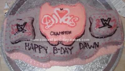 Homemade WWE Birthday Cake