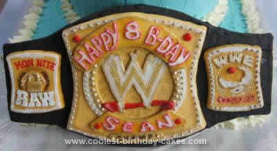 Homemade WWE Birthday Cake