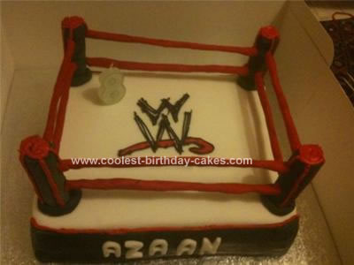Homemade WWE Cake