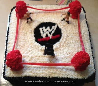 Homemade  WWE Wrestling Ring Cake