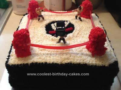 Cool Homemade Wwe Wrestling Ring Cake
