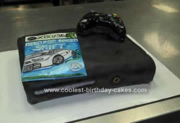 Homemade Xbox 360 Birthday Cake