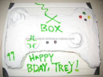 Homemade Xbox 360 Controller Birthday Cake