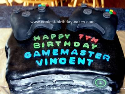 Homemade Xbox 360 Kids Birthday Cake