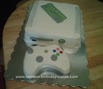 Homemade Xbox Birthday Cake