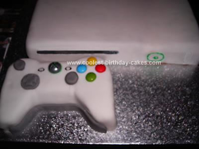 Homemade Xbox Cake