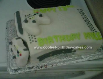 Homemade X-box Cake
