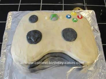 Homemade Xbox Controller Birthday Cake