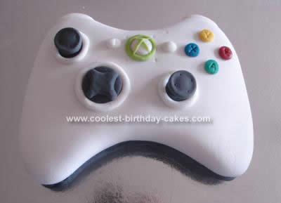 Homemade Xbox Controller Cake