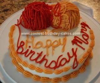 Homemade Yarn Cake