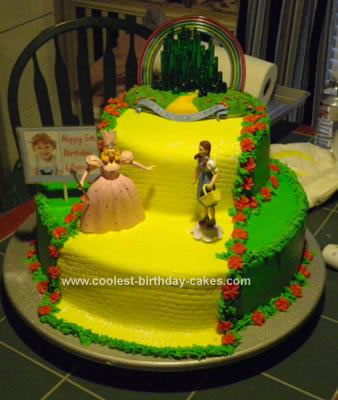 Homemade  Yellow Brick Road Cake