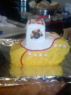 Homemade Yellow Submarine Cake
