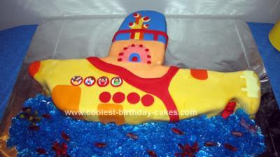 Homemade Yellow Submarine Cake