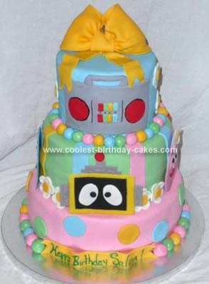 Fine Coolest Yo Gabba Gabba Birthday Cake Funny Birthday Cards Online Overcheapnameinfo
