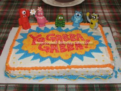 Outstanding Coolest Yo Gabba Gabba Birthday Cake Funny Birthday Cards Online Elaedamsfinfo
