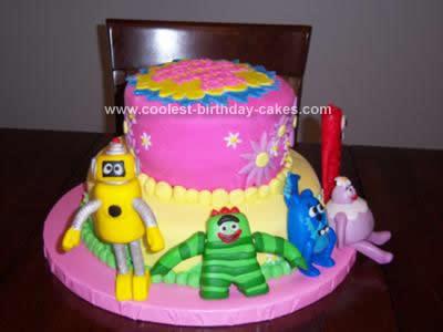 Homemade Yo Gabba Gabba Birthday Cake